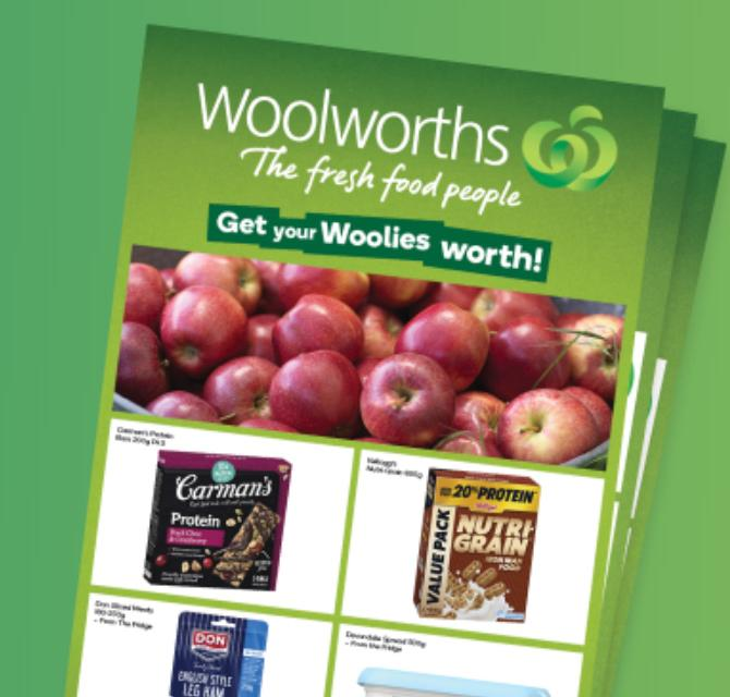 Woolworths catalogue shown.
