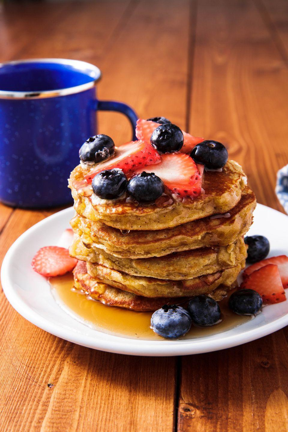 "<p>Curb the early morning carb craving with a stack of these. </p><p>Get the recipe from <a href=""https://www.delish.com/cooking/recipe-ideas/a25350983/best-paleo-pancake-recipe/"" rel=""nofollow noopener"" target=""_blank"" data-ylk=""slk:Delish"" class=""link rapid-noclick-resp"">Delish</a>. </p>"