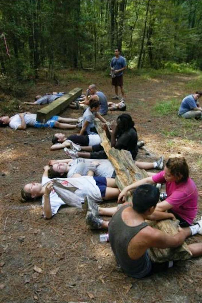 Former members of Bethany Church in Baton Rouge, La., who took part as teenagers in 220i youth program say there were often made to take long hikes, do manual labor, and perform calisthenics for hours in the sweltering summer heat. (Obtained by NBC News)