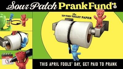 """SOUR PATCH KIDS® CELEBRATES APRIL FOOLS' DAY WITH """"SOUR PATCH PRANK FUND"""" TO REWARD FANS WITH CASH AND CANDY FOR THEIR PRANKS"""