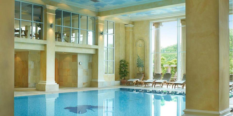 """<p><strong>Current deal: Two-night spa break from £590</strong></p><p><strong>Spa open for guests and members only</strong></p><p>At <a href=""""https://go.redirectingat.com?id=127X1599956&url=https%3A%2F%2Fwww.spabreaks.com%2Fvenues%2Fchewton-glen&sref=https%3A%2F%2Fwww.womenshealthmag.com%2Fuk%2Ffitness%2Ffitness-holidays%2Fg31282174%2Fbest-spas-in-uk%2F"""" rel=""""nofollow noopener"""" target=""""_blank"""" data-ylk=""""slk:Chewton Glen"""" class=""""link rapid-noclick-resp"""">Chewton Glen</a>'s spa, you can have a real escape to the country, with its beautiful interior and focus on varied treatments. It's home to heated pools indoors and out, as well as Europe's largest hydrotherapy pool - this is the place for aquatic lounging as you enjoy great views over the garden. </p><p>Located just minutes from the seaside, there's a coastal calm about the spa. Don't leave without trying the cold drench showers, aromatherapy saunas and steam rooms, and when it comes to booking a treatment, you'll want to try the classic Swedish massage or a full-body scrub. </p><p><a class=""""link rapid-noclick-resp"""" href=""""https://go.redirectingat.com?id=127X1599956&url=https%3A%2F%2Fwww.spabreaks.com%2Fvenues%2Fchewton-glen&sref=https%3A%2F%2Fwww.womenshealthmag.com%2Fuk%2Ffitness%2Ffitness-holidays%2Fg31282174%2Fbest-spas-in-uk%2F"""" rel=""""nofollow noopener"""" target=""""_blank"""" data-ylk=""""slk:FIND OUT MORE"""">FIND OUT MORE</a></p>"""