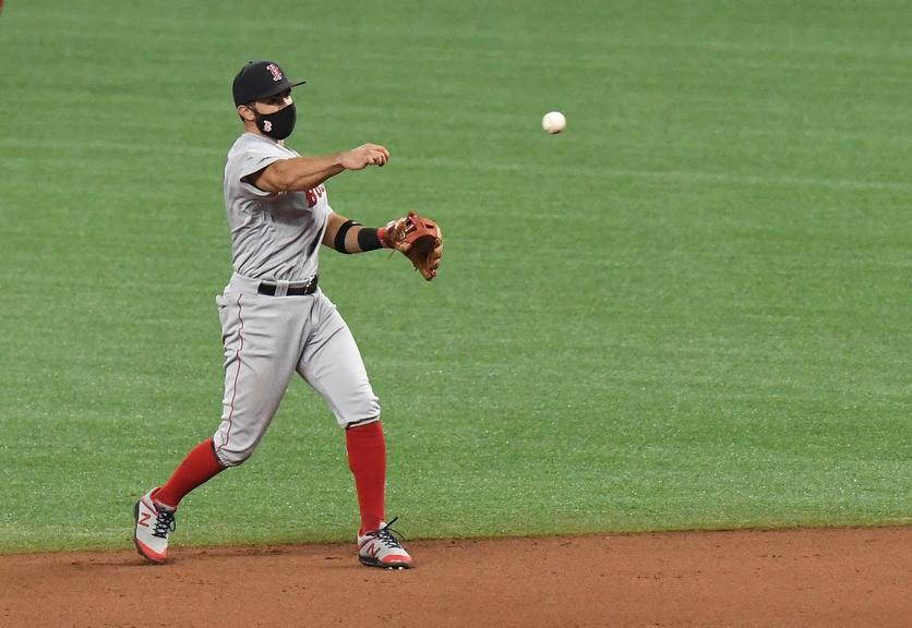 Jose Peraza in Red Sox uniform