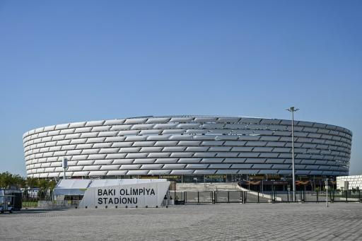 (FILES) The Baku Olympic Stadium, which hosted last year's UEFA Europa League final and will also host games at Euro 2020