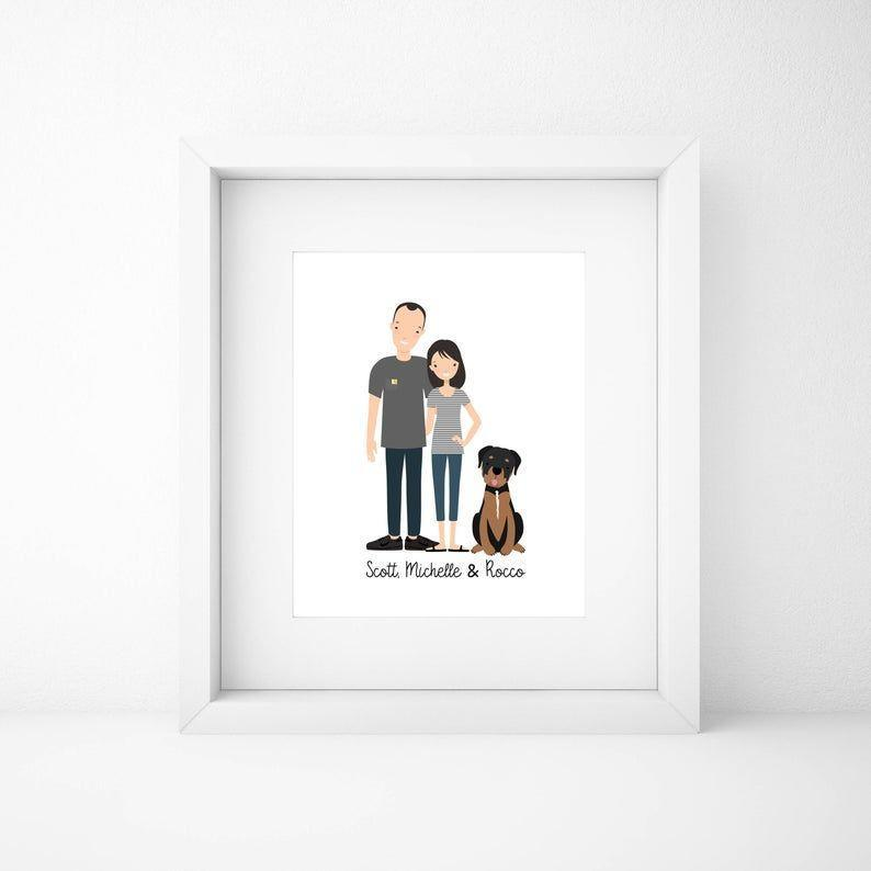 """<p><strong>HappyMomentsArts</strong></p><p>etsy.com</p><p><strong>$25.00</strong></p><p><a href=""""https://go.redirectingat.com?id=74968X1596630&url=https%3A%2F%2Fwww.etsy.com%2Flisting%2F547153158%2Fcustom-family-portraitcustom-couple&sref=https%3A%2F%2Fwww.goodhousekeeping.com%2Fholidays%2Fgift-ideas%2Fg27229925%2Fstepmom-gifts%2F"""" rel=""""nofollow noopener"""" target=""""_blank"""" data-ylk=""""slk:Shop Now"""" class=""""link rapid-noclick-resp"""">Shop Now</a></p><p>Celebrate your blended family with a custom portrait of the whole gang, including your furry family members. You can include up to 20 people or animals, so you can even show off her whole extended family in one spot.</p>"""