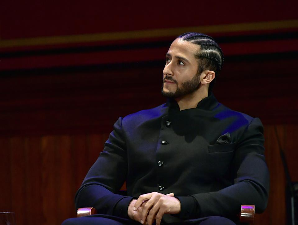Colin Kaepernick hasn't had a job in the NFL for 889 days, but he's still ready to take a job should the call come. (Photo by Paul Marotta/Getty Images)