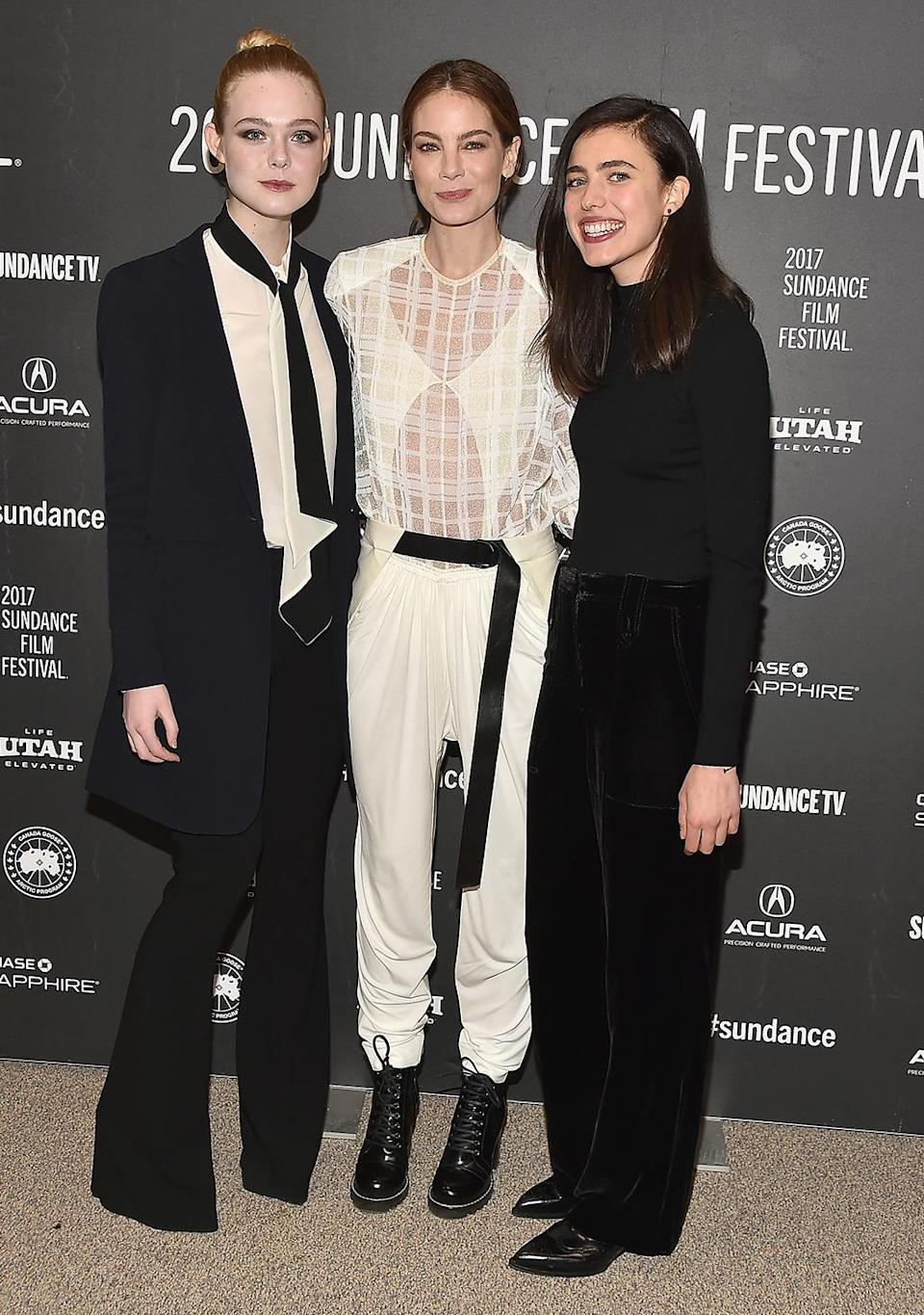 <p>The 'Sidney Hall' actresses arrive for the premiere on Jan. 25. (Photo: Alberto E. Rodriguez/Getty Images) </p>