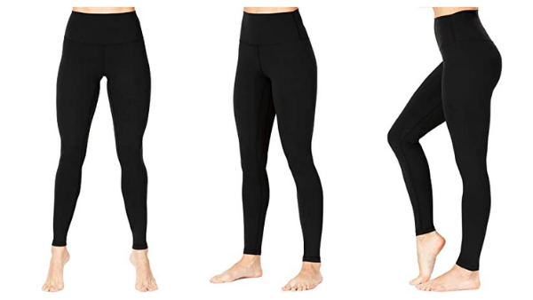 Sunzel Squat Proof High Waisted Leggings. Images via Amazon.