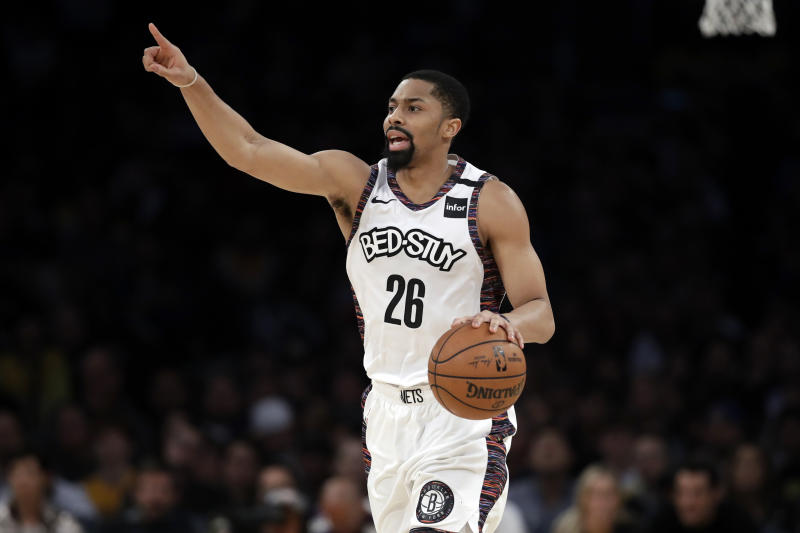 Brooklyn Nets' Spencer Dinwiddie tested positive for the coronavirus on Monday.