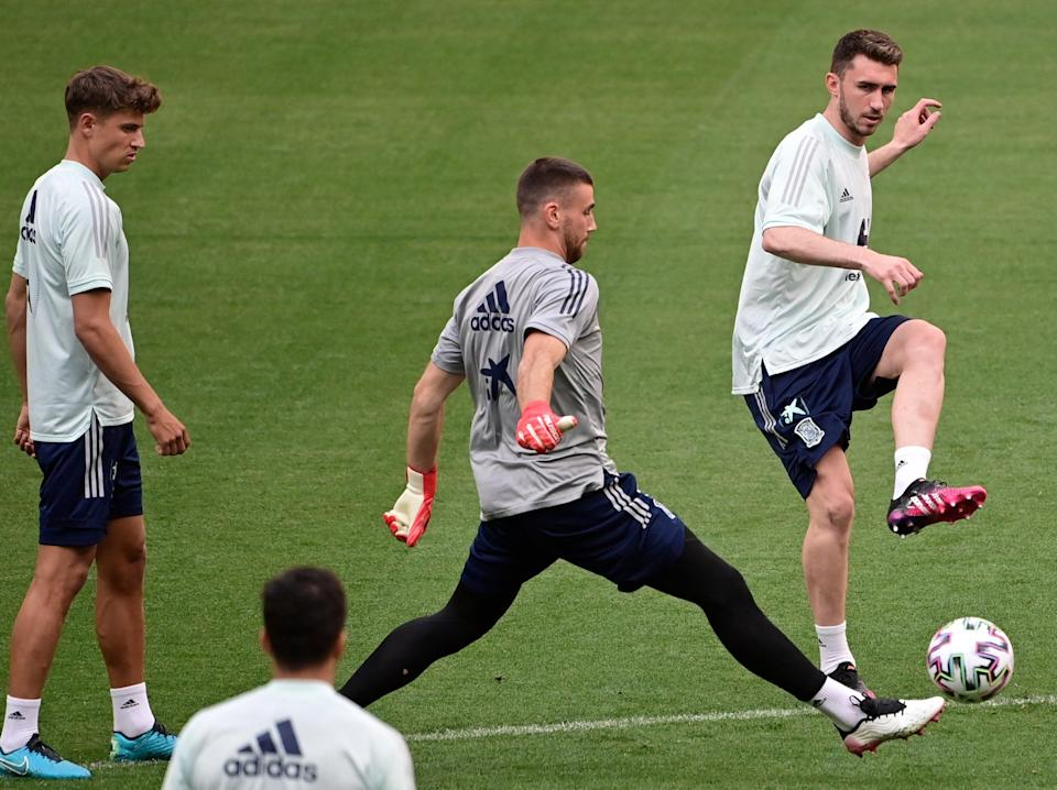 Spain players in training (AFP via Getty Images)