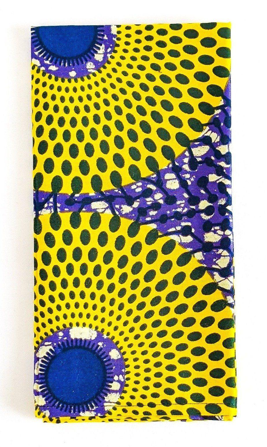 """<p>reflektiondesign.com</p><p><strong>$10.00</strong></p><p><a href=""""https://www.reflektiondesign.com/collections/tableware/products/purple-yellow-ankara-fabric-napkins"""" rel=""""nofollow noopener"""" target=""""_blank"""" data-ylk=""""slk:Shop Now"""" class=""""link rapid-noclick-resp"""">Shop Now</a></p><p>I love adding a fun patterned napkin when setting my table. I find it's a perfect conversation starter with my guests! These purple and yellow napkins are printed with a pattern native to Ghana. </p>"""