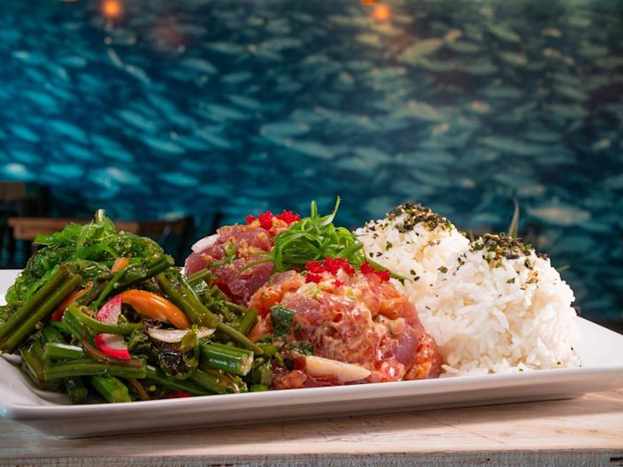 You can taste your way around Hawaii at Umekes Fishmarket Bar & Grill, one of Guy Fieri's spots on the Big Island.