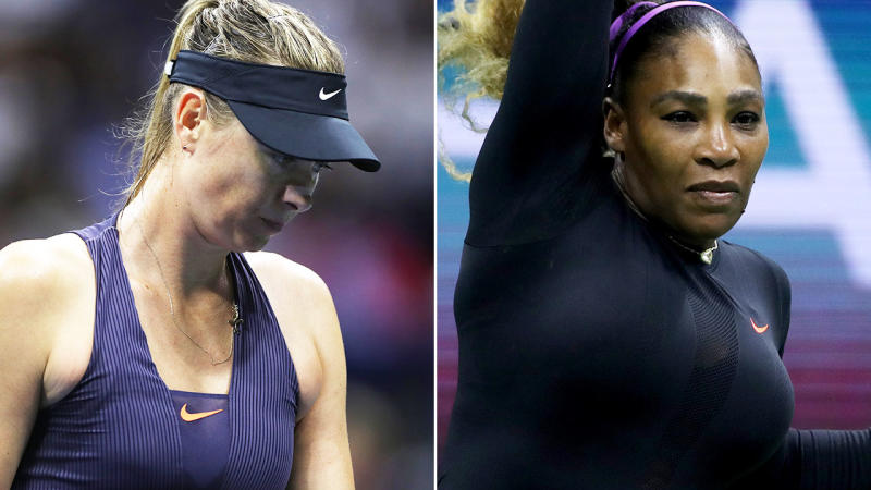 Serena Williams and Maria Sharapova, pictured here during their US Open clash.
