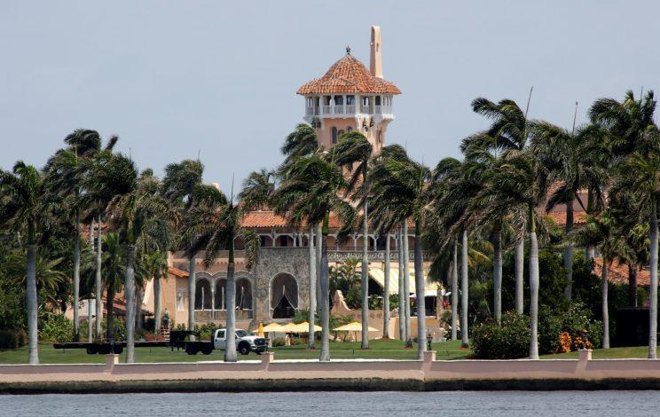 The Mar-a-Lago estate owned by President Trump is seen in Palm Beach, Fla., where the U.S. and Chinese leaders will meet.