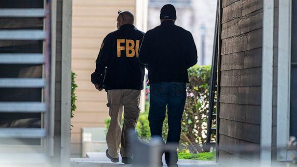 PHOTO: FBI agents canvas the neighborhood searching for information on Heidi Broussard, a missing Austin, Texas, woman and her infant daughter in South Austin, Texas, Dec. 18, 2019. (Ricardo B. Brazziell/Statesman.com/AP, FILE)