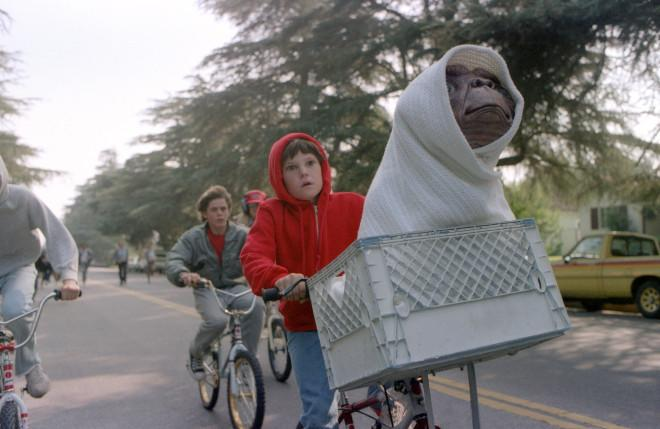 E.T. and Elliott back in 1982. Photo: Universal Pictures.