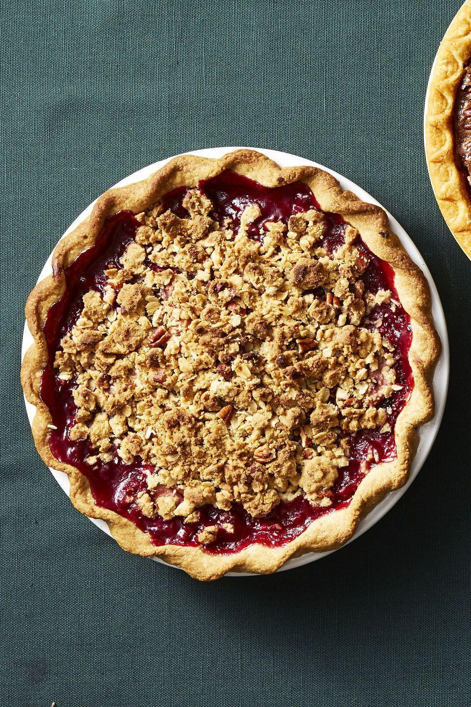 "<p>Skip the complicated lattice and opt for this easy crumb topping instead. </p><p><a href=""https://www.goodhousekeeping.com/food-recipes/dessert/a34579/harvest-pear-blackberry-pie/"" rel=""nofollow noopener"" target=""_blank"" data-ylk=""slk:Get the recipe for Harvest Pear-Blackberry Pie »"" class=""link rapid-noclick-resp""><em>Get the recipe for Harvest Pear-Blackberry Pie »</em></a></p>"
