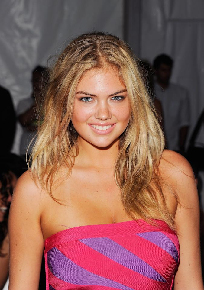 MIAMI BEACH, FL - JULY 16:  Model Kate Upton attends Caffe Swimwear show during Mercedes-Benz Fashion Week Swim on July 16, 2011 in Miami Beach, Florida.  (Photo by Andrew H. Walker/Getty Images for IMG)