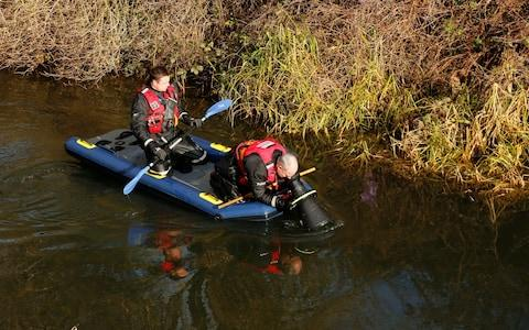 Police divers search for missing Libby Squire at the Beverley and Barmston Drain near, Beverley Road - Credit: SWNS