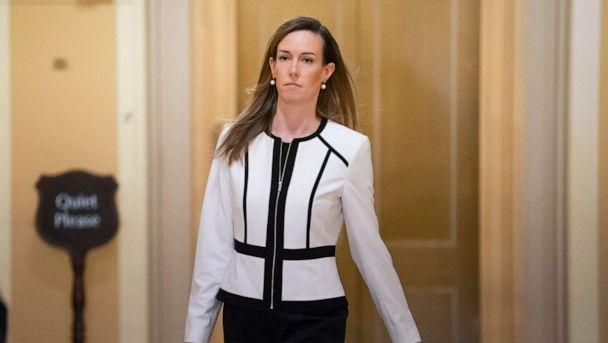 PHOTO: Jennifer Williams, a special adviser to Vice President Mike Pence for Europe and Russia who is a career Foreign Service officer, arrives for a closed-door interview in the impeachment inquiry on President Donald Trump. (J. Scott Applewhite/AP Photo)