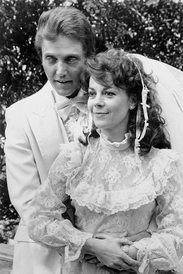 "Natalie Wood and Christopher Walken in a wedding scene from ""Brainstorm."" (Photo: Getty Images)"