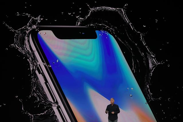 <p>The iPhone X has also been protected to resist water and debris. (Photo by Justin Sullivan/Getty Images) </p>