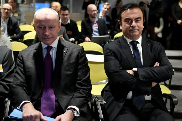 Thierry Bollore (left) has been named deputy, and possible successor, to Carlos Ghosn (right) as head of Renault