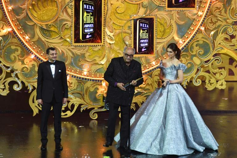 Sridevi Kapoor's widower Boney Kapoor collected the honour on her behalf at the Indian Film Academy's (IIFA) annual awards ceremony