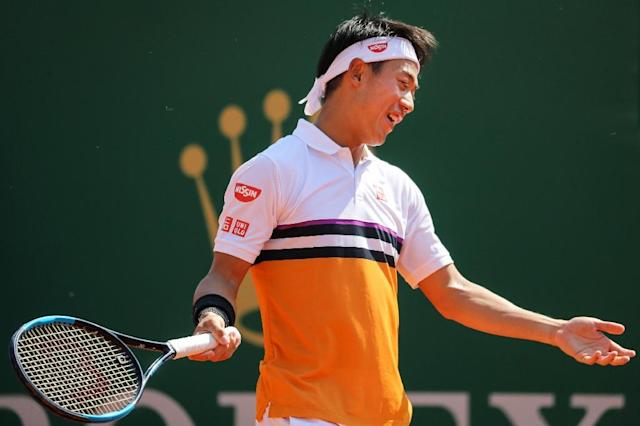 Kei Nishikori will lose a heap of ranking points having reached last year's final in Monte Carlo (AFP Photo/Valery HACHE)