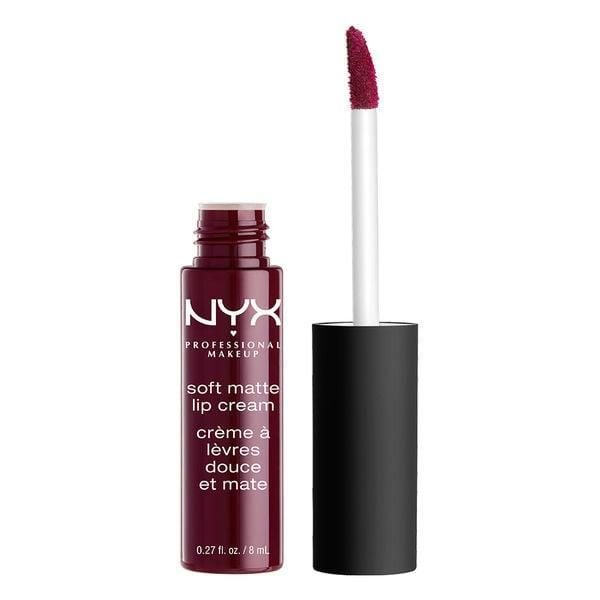 """<p>A blogger favorite, the <a href=""""https://www.popsugar.com/buy/NYX-Professional-Makeup-Soft-Matte-Lip-Cream-311349?p_name=NYX%20Professional%20Makeup%20Soft%20Matte%20Lip%20Cream&retailer=ulta.com&pid=311349&price=7&evar1=bella%3Aus&evar9=41810731&evar98=https%3A%2F%2Fwww.popsugar.com%2Fbeauty%2Fphoto-gallery%2F41810731%2Fimage%2F41810744%2FNYX-Professional-Makeup-Soft-Matte-Lip-Cream&list1=makeup%2Cbeauty%20products%2Cbeauty%20shopping%2Cnyx%2Cbeauty%20review&prop13=api&pdata=1"""" class=""""link rapid-noclick-resp"""" rel=""""nofollow noopener"""" target=""""_blank"""" data-ylk=""""slk:NYX Professional Makeup Soft Matte Lip Cream"""">NYX Professional Makeup Soft Matte Lip Cream</a> ($7) gives major color with a lightweight, moisturizing feel. It smells sweet and lasts all day without feathering or drying out your pout like other matte lip products. </p>"""