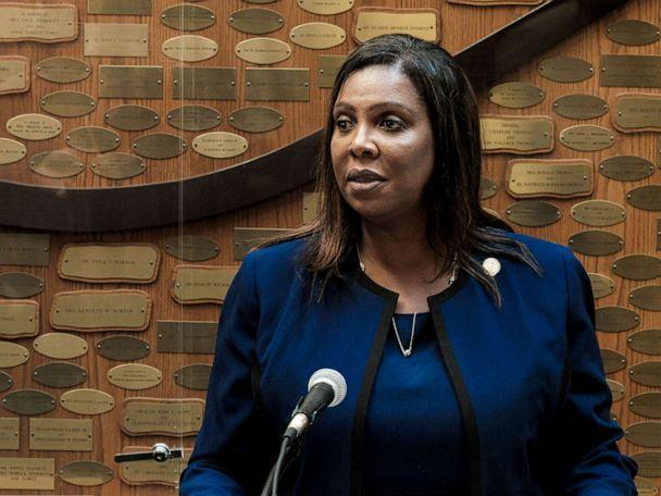 PHOTO: New York State Attorney General Letitia James speaks at a news conference, Sept. 20, 2020, in Rochester, New York. (Joshua Rashaad Mcfadden/Getty Images, FILE)