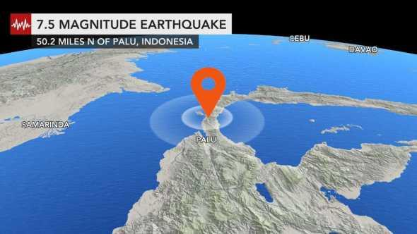 Powerful earthquake rocks central Sulawesi in Indonesia; 1 dead