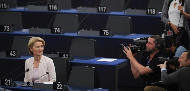 Von der Leyen has been criticised by rights groups and some European lawmakers over the title