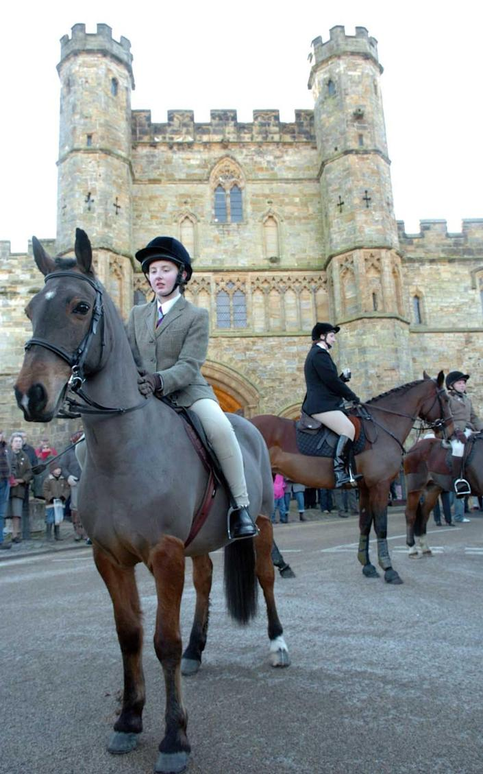 The East Sussex and Romney Marsh Hunt gathers outside the Battle Abbey - Paul Grover