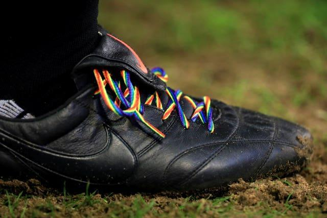 Stonewall's Rainbow Laces campaign has helped shine a light on homophobia in football.