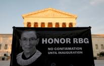 Vigil following the death of Supreme Court Justice Ruth Bader Ginsburg in Washington