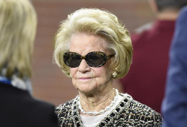 Detroit Lions owner Martha Ford reportedly asked her players to not kneel for the national anthem Sunday. (AP)