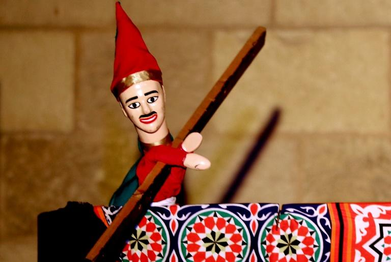 A glove puppet named Aragoz remains popular in Egypt with comic sketches recounting moral tales, some of which date back centuries