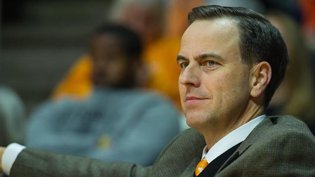John Currie is out as the Tennessee athletic director after a disastrous coaching search and just eight months on the job. (AP)