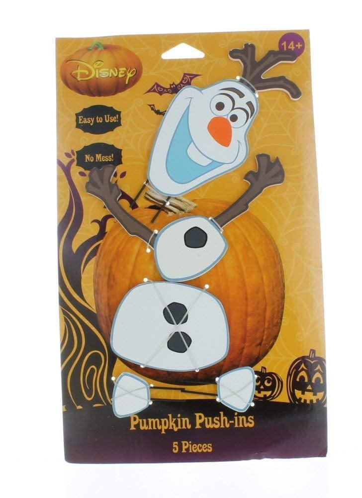<p><strong>Frozen</strong> fans will freak out for this <span>Pumpkin Push-Ins Disney Olaf Halloween Wooden Pumpkin Decoration</span> ($19).</p>