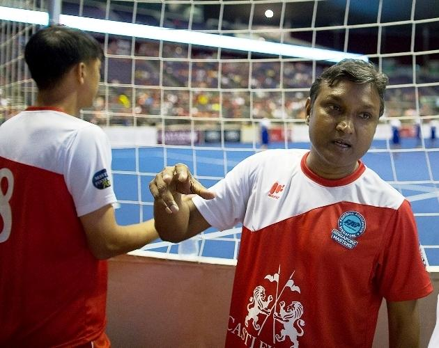 Sundram at the IG Masters Cup 2013 - the legend did not feature for the Singapore All-Stars, despite strong calls for his presence. (Yahoo Photo/Justin Qian)