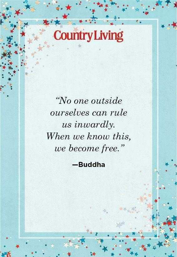 """<p>""""No one outside ourselves can rule us inwardly. When we know this, we become free.""""</p>"""
