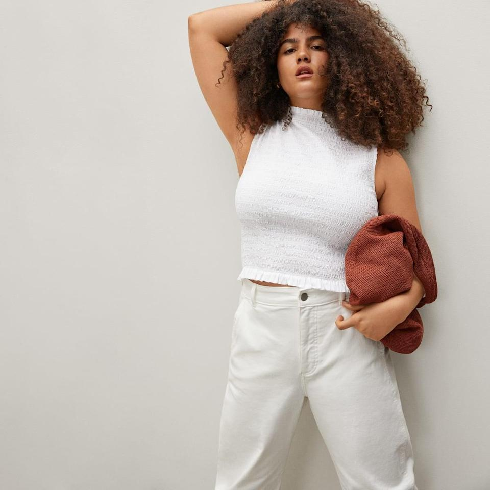 <p>The material of this <span>Everlane Smock Tank</span> ($55) is so comfy.</p>