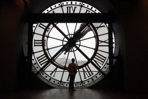 Uhr des Orsay-Museums in Paris