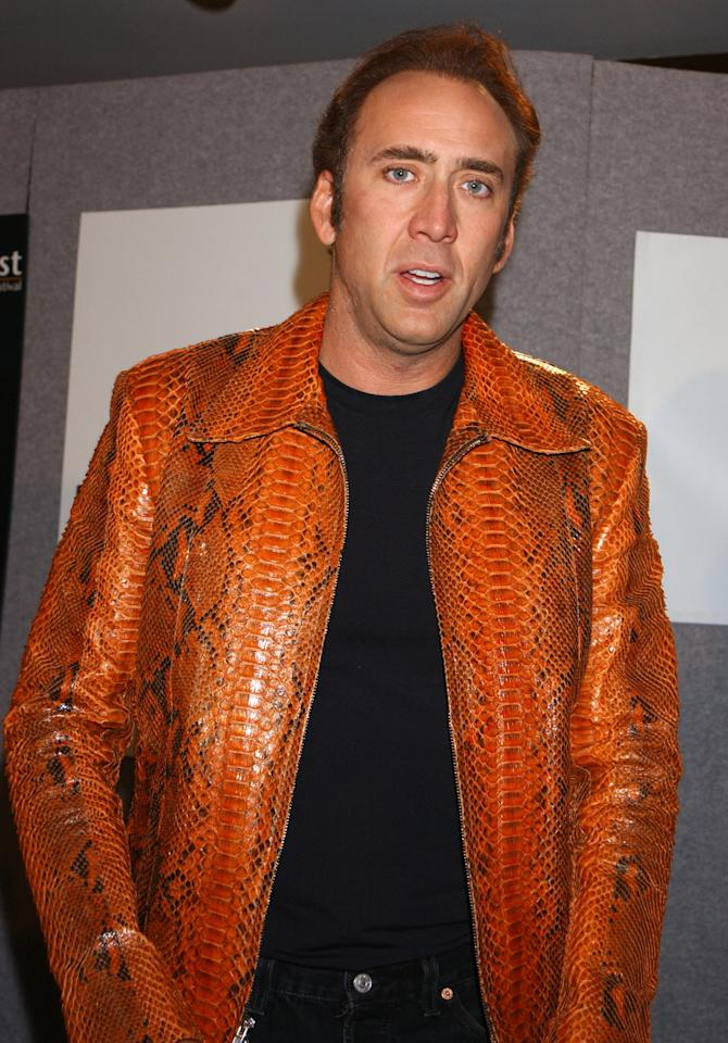 "Nicolas Cage during 2003 Toronto International Film Festival - ""Matchstick Men"" Press Conference at Delta Chelsea Hotel in Toronto, Ontario, Canada. (Photo by George Pimentel/WireImage)"
