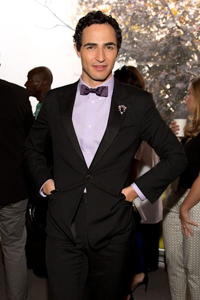 "Designer Zac Posen attends the ""Project Runway"" fashion show on Friday, Sept. 6, 2012, during Fashion Week in New York. (Photo by Dario Cantatore/Invision/AP)"