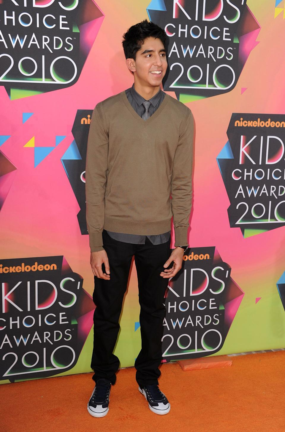 Patel at Nickelodeon's 23rd Annual Kids' Choice Awards at UCLA's Pauley Pavilion on March 27, 2010, in Los Angeles.