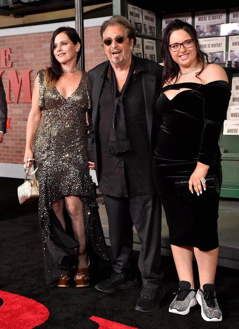 Al Pacino with Meital Dohan (left) and his daughter Olivia (FilmMagic)