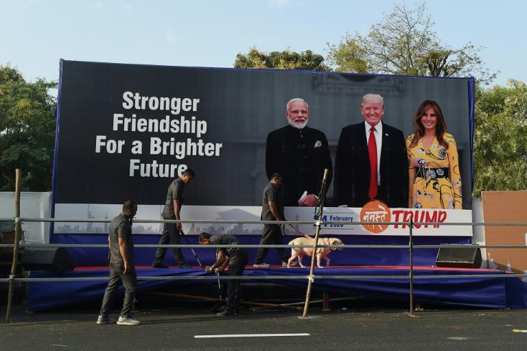 """""""I hear it's going to be a big event, some people say the biggest event they ever had in India. That's what the prime minister told me"""" President Donald Trump said"""