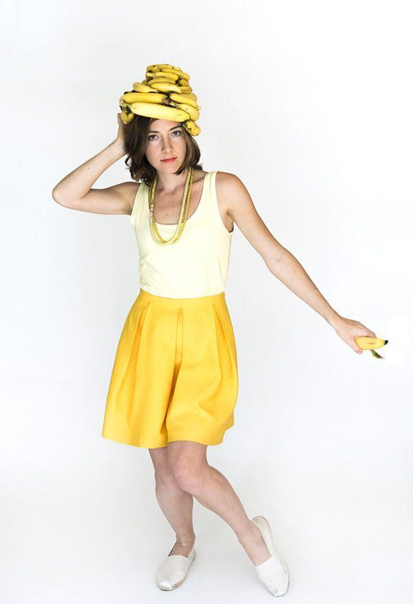 """<p>There aren't many Halloween costumes as effortless to create as this Banana fanna fo Firley one (sorry, we couldn't resist). The project even includes guidelines on how to make the tooty fruity turban.</p><p><strong>Get the tutorial at <a href=""""https://sayyes.com/2016/09/banana-costume"""" rel=""""nofollow noopener"""" target=""""_blank"""" data-ylk=""""slk:Say Yes"""" class=""""link rapid-noclick-resp"""">Say Yes</a>.</strong></p><p><a class=""""link rapid-noclick-resp"""" href=""""https://www.amazon.com/Yellow-dress/s?k=Yellow+dress&tag=syn-yahoo-20&ascsubtag=%5Bartid%7C10050.g.4571%5Bsrc%7Cyahoo-us"""" rel=""""nofollow noopener"""" target=""""_blank"""" data-ylk=""""slk:SHOP YELLOW DRESSES"""">SHOP YELLOW DRESSES</a><br></p>"""