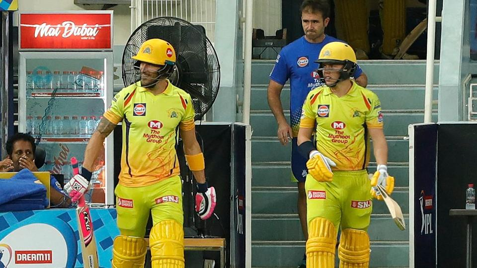 Sam Curran opening the batting for CSK along with Faf du Plessis.